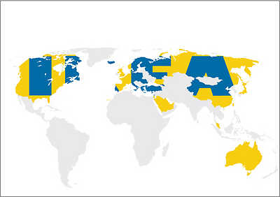 IKEA map of the world