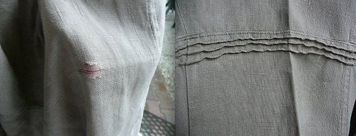 Repaired linen trousers, Hanny Couwenhoven