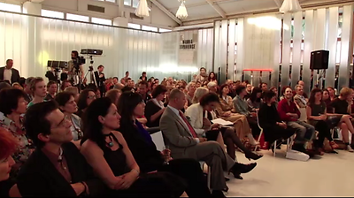 The audience at Premsela's Design Forum