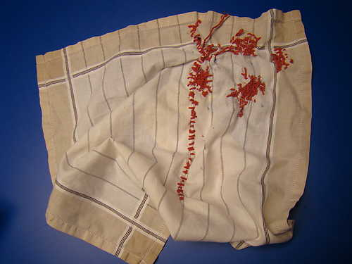 Repaired handkerchief, Esther Brakenhoff